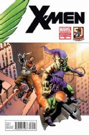 X-Men #30 Amazing Spider-man In Motion Green Goblin Retail Variant 1:25 (2010) Marvel comic book